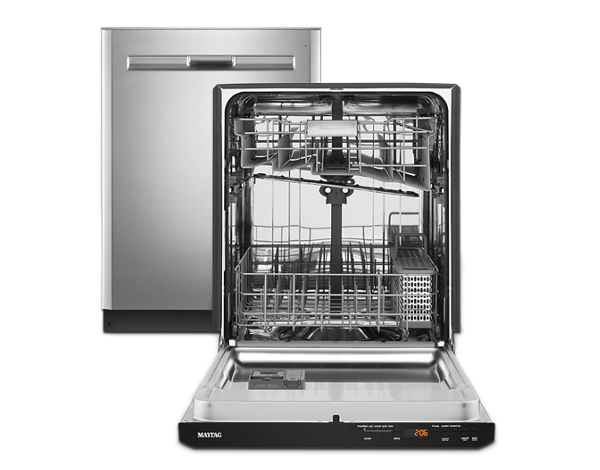 Maytag® dishwashers are built tough to tackle the dirtiest dishes.