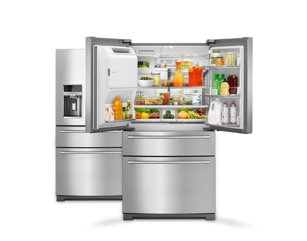 Maytag® refrigerators provide optimal storage and keep your food cold.