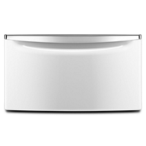 "15.5"" Laundry Pedestal with Chrome Handle and Storage Drawer"